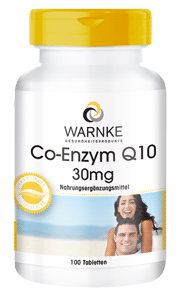 Co-Enzym Q10 30mg 100 Tabletten. Klassisches Ubichinon, vegan